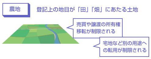 登記上の地目が「田」「畑」にあたる土地-所有権移転や宅地への転用が制限される